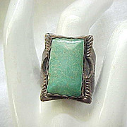 Sterling & Turquoise Ring - 10 1/4