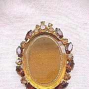 10 - Lovely Juliana Brooch/Pendant - Shades of Topaz