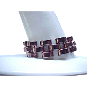 09 - Chunky Tank Track Bracelet Copper Color