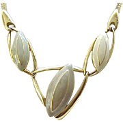 Trifari MOD Necklace Taupe, Cream