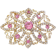10 - Juliana Rhinestone Buckle Metal Accents - Pink and Diamante