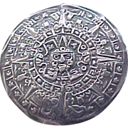 09 - Sterling Silver Pin/Pendant Aztec Calendar