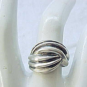 10 - Sterling Silver Love Knot Ring - Size 6 1/4