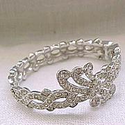 Stunning Rhinestone Bracelet - Pave' Set Diamante Rhinestones