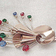 Fabulous Corocraft Sterling Stick Pin Brooch