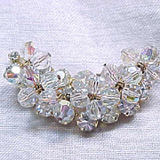 Juliana Crescent Shaped Rhinestone & Crystal Pin