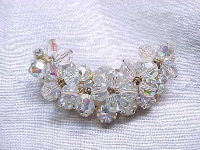 Juliana Crescent Shaped Rhinestone & Crystal Pin