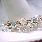 Juliana Rhinestone & Crystal Bracelet - Aurora Borealis - Bridal