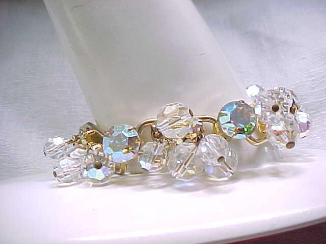 05 - Juliana Rhinestone & Crystal Bracelet - Aurora Borealis - Bridal