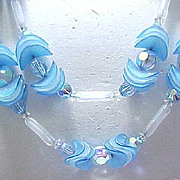 Fanciful Hobe' Necklace & Earrings - Blue
