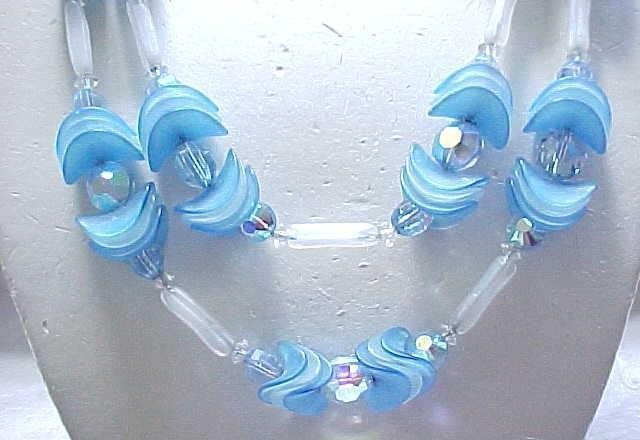 06 - Fanciful Hobe' Necklace & Earrings - Blue