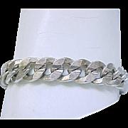 Chunky Sterling Silver Bracelet - 28 grams