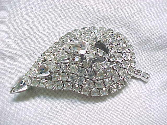 Elegant Diamante Rhinestone Brooch, Earrings - Big & Beautiful