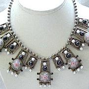 Rare & Beautiful Juliana Moroccan Matrix Necklace - Book Piece - Egyptian Revival