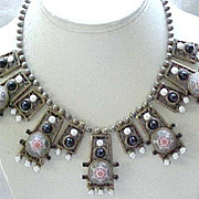Rare & Beautiful Juliana Moroccan Matrix Necklace - Book Piece - Egyptian Revival