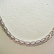 Sterling Silver Necklace - Great Design, Good Length