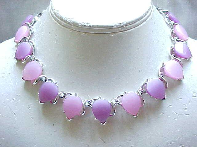10 - Pretty Thermoset Necklace - 2 Shades of Purple