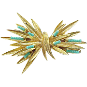 Delightful CAPRI Pin with Turquoise color Beads