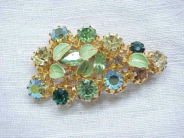Sparkling Jeweled Pin Made in Austria
