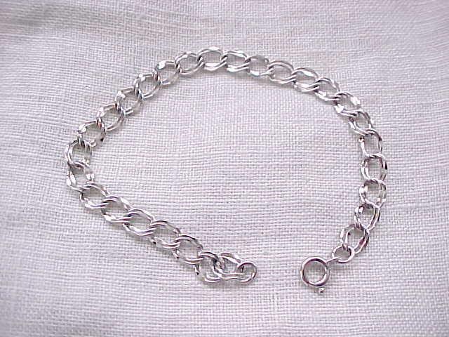 Very Nice Sterling Silver Charm Bracelet - no Charms