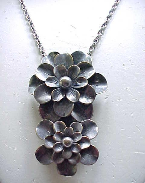 Superb Joseff of Hollywood Dress Clip/Pendant - Impressive Floral