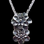 Superb Joseff of Hollywood Dress Clip/Pendant - Impressive Floral