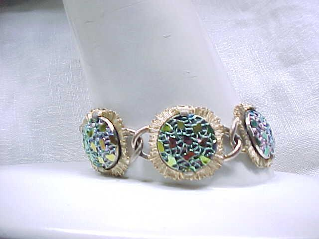 Pretty Judy Lee Iridescent Glass Bracelet, Earrings