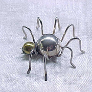 The Cutest Sterling Silver Spider Pin Ever!
