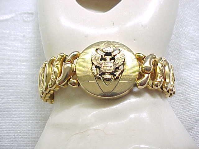 Sweetheart Expansion Bracelet -Pitman & Keeler - Military Eagle