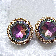 Schiaparelli Tourmaline Earrings - Watermelon Stones