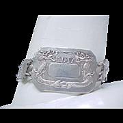 Sterling Silver Bracelet Japan - Dragons -  Dated 1947