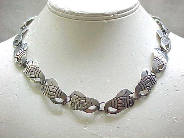 Sterling Necklace - Traditional Aztec Design - High Quality