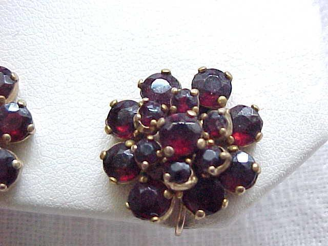 Gorgeous Garnet Earrings - Screw Backs