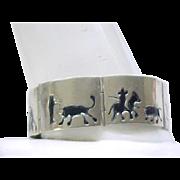 Sterling Silver Toreador Bracelet - Bull Fight