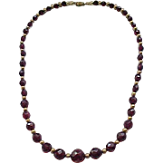 Lovely Cherry Amber Necklace Faceted Beads