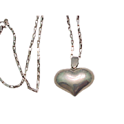 Sterling Silver Heart Necklace and Chain
