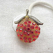 09 - Forbidden Fruit Earrings - Lucite, Rhinestones