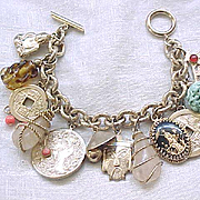 Superb Asian Theme Napier Charm Bracelet