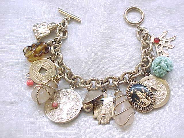Superb Asian Theme Napier Charm Bracelet