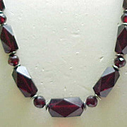 Superb Cherry Amber Necklace Art Deco Beads