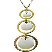 Chic Trifari 3 Section Pendant Necklace