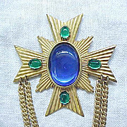 Miriam Haskell Maltese Cross Pin - Very Elegant