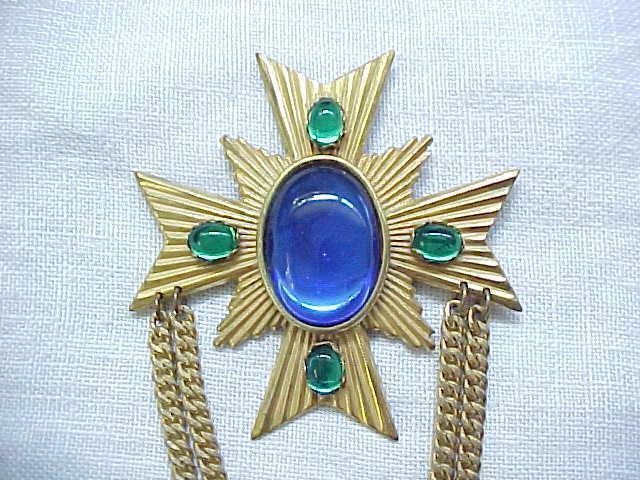 Miriam Haskell Maltese Cross Pin - Very Elegant