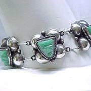 Mayan Mask Sterling Bracelet - Onyx Masks