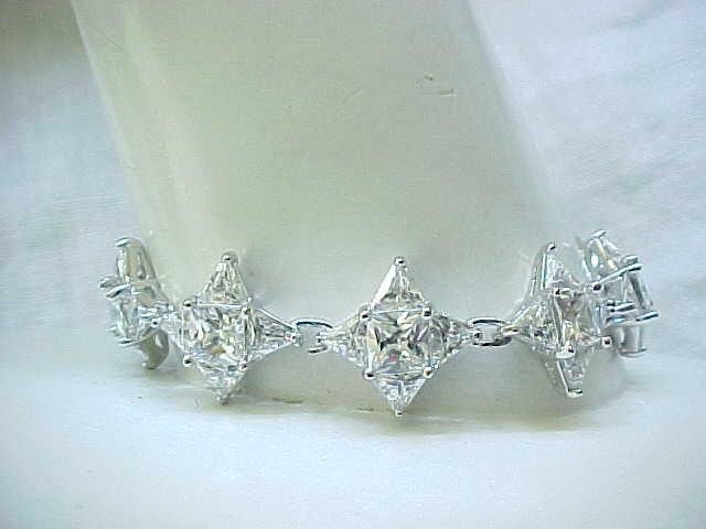 Spectacular Sterling & CZ Bracelet - Glitz & Glam