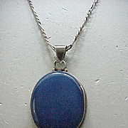 Sterling & Stone Necklace - Glorious Blue