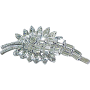 D & E Incredible Diamante Rhinestone Pin - Early Piece