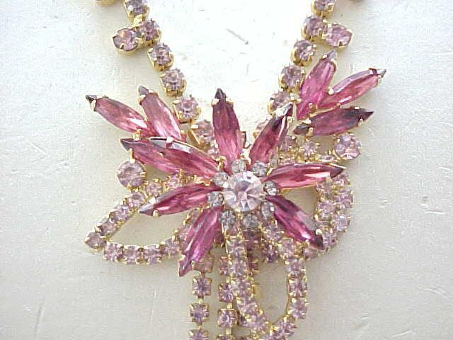 Gorgeous Pink D & E Necklace, Earrings Made for Celebrity