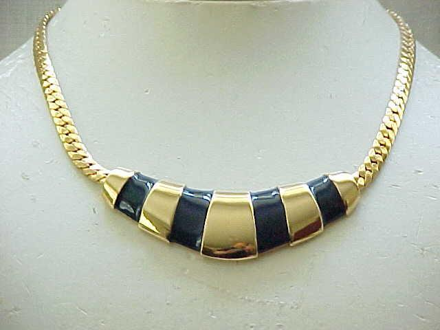 10 - Napier Necklace Black Enamel - Nice Accent Piece