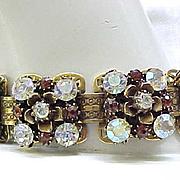 Glitzy Florenza Book Chain Bracelet